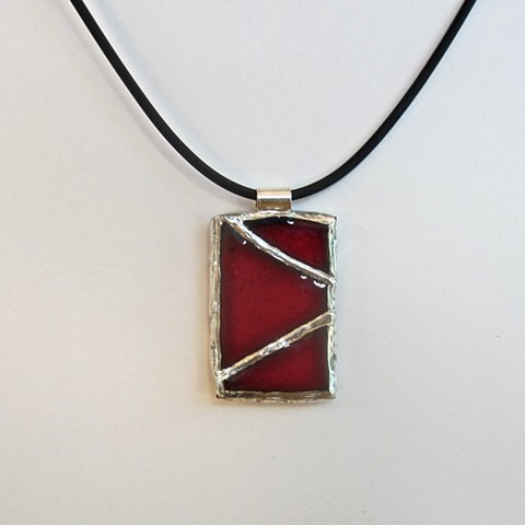 Stained Glass Red necklace