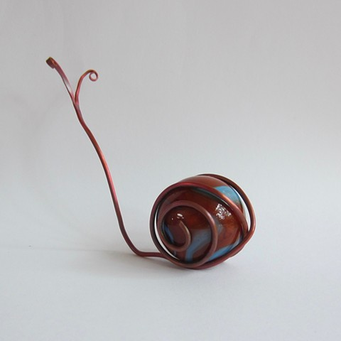 Red&Blue Marble Snail