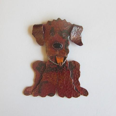 Dark Doodle pin