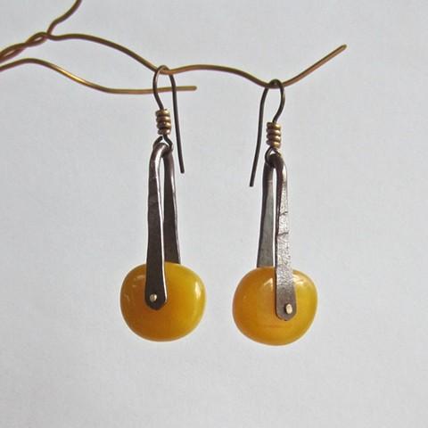 Amber Wheel earrings