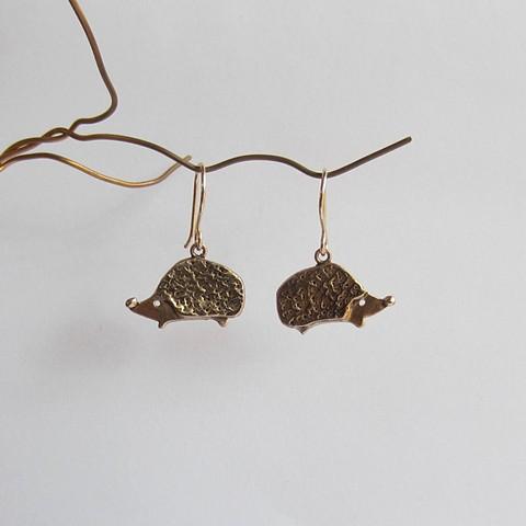 Golden Hedgehog earrings