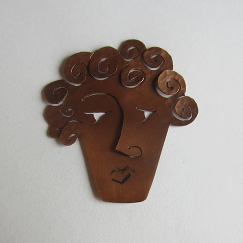 Copper Face pin