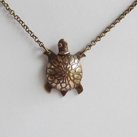 Little Turtle Bronze Whistle