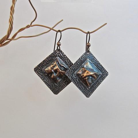 Square Drape earrings