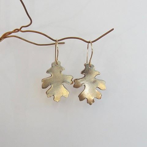 Large Oak Leaf earrings