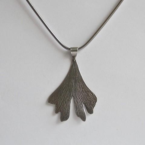 Silver Gingko necklace
