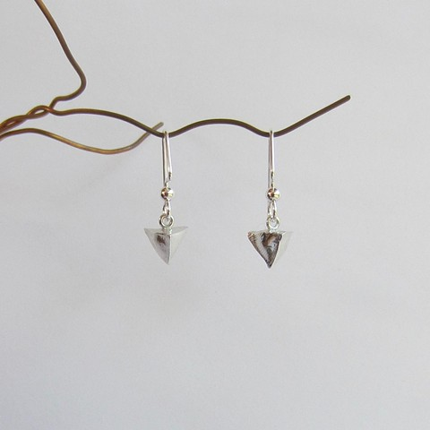 Silver Pyramide earrings