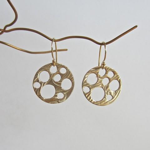 bronze metal clay earrings