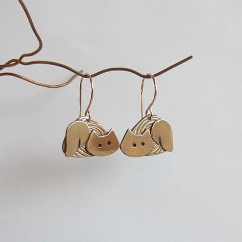 Golden Cats earrings