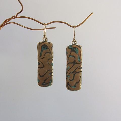 Gold & Green earrings