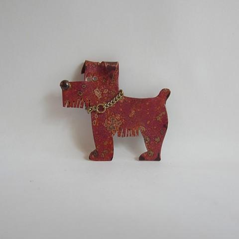 Pink Dog pin