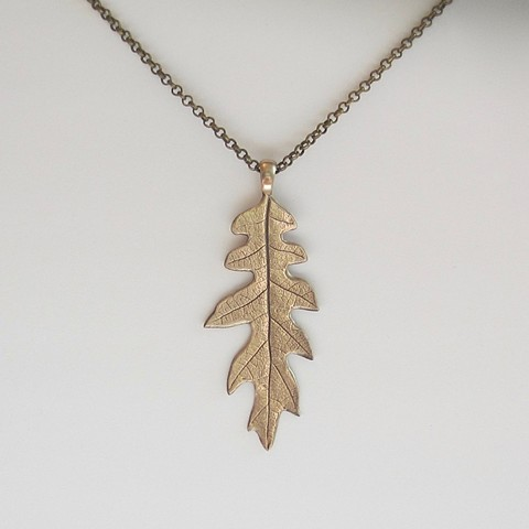 Long Golden Leaf necklace