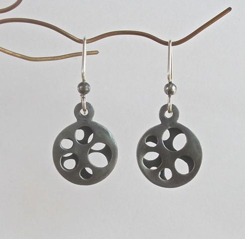 Steel Wheel Shadow earrings