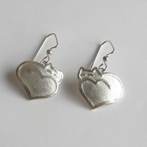 Large Cat Heart earrings