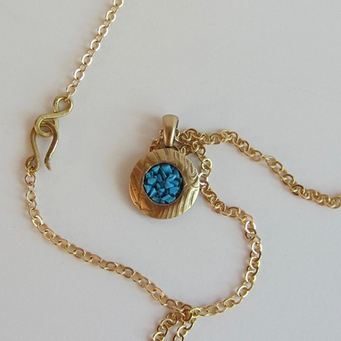 Golden Circle with Blue Turquoise