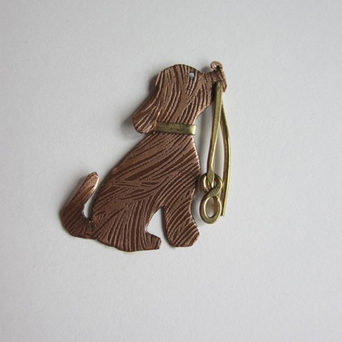 Puppy with a Leash pin