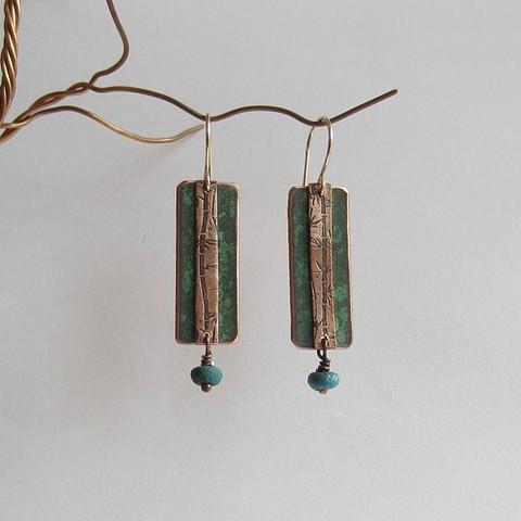 Turquoise Bamboo earrings