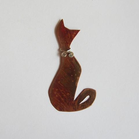 Fancy Cat pin