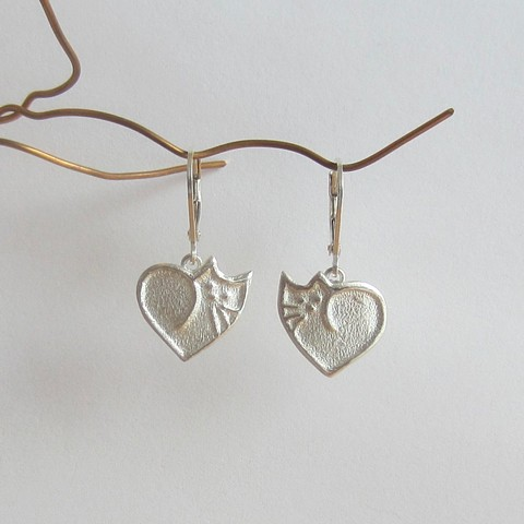 Small Cat Heart earrings