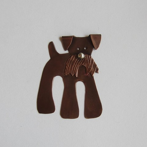 Dog with Mustache pin