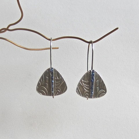 Triangles with Lapis Inlay earrings