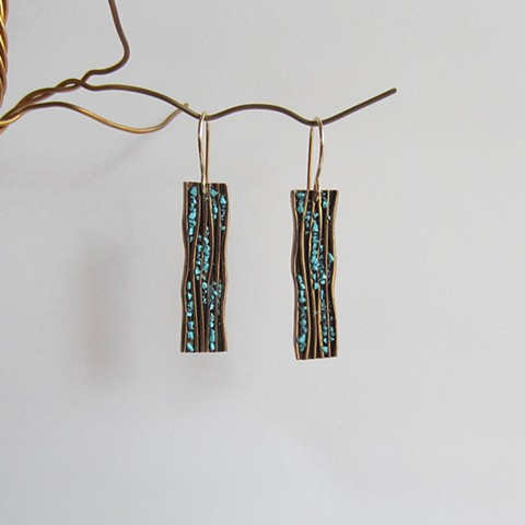 Long Rectangles with Turquoise inlay