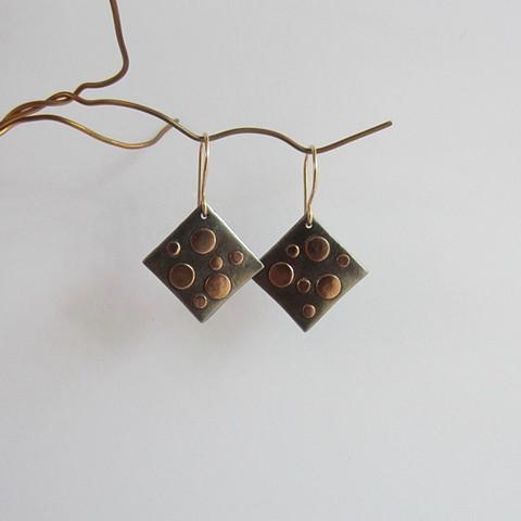 Golden Polka Dots earrings