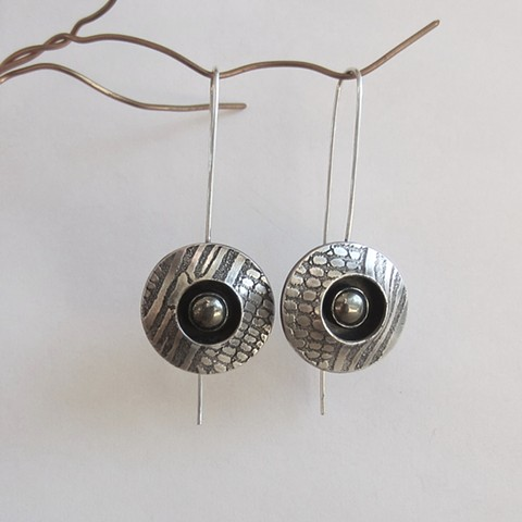 PMC earrings with stone