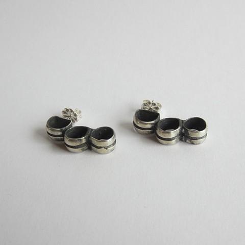 Three Ring stud earrings