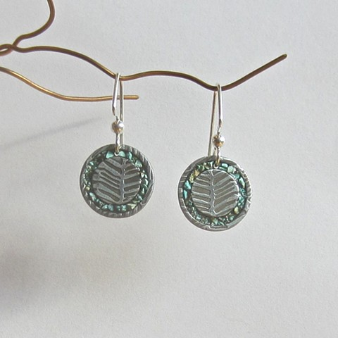Circles with Turquoise Inlay earrings