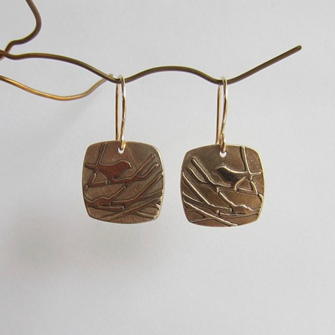 Birds in the Tree earrings