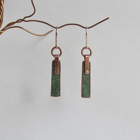 Riveted Ractangle earrings