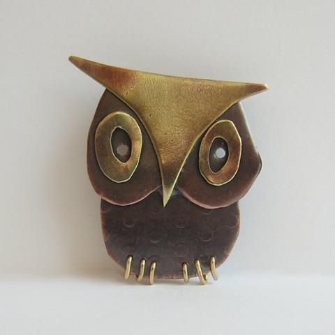 Owl #4 pin
