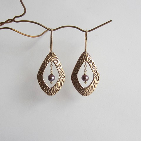 Bronze Teardrops with Pearls