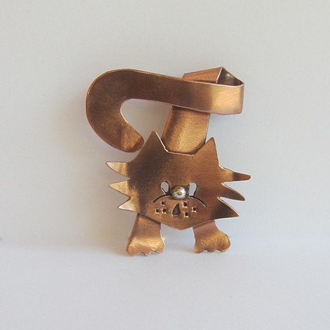 Twisted Cat pin