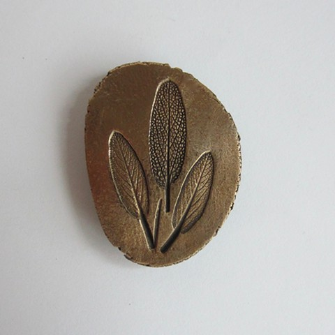 Three Sage leaves magnet