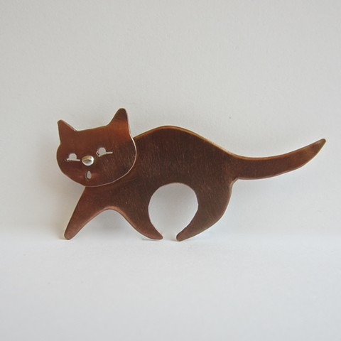 Walking Cat pin