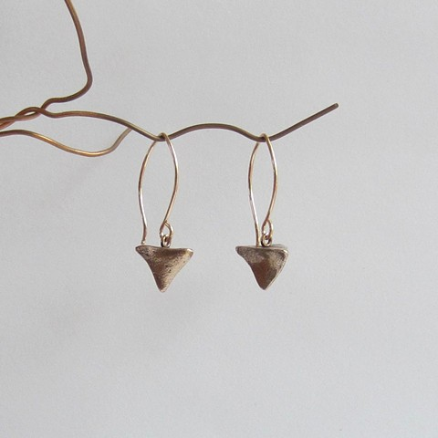 Bronze Pyramid earrings