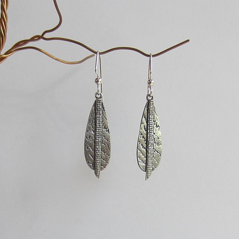 Silver Layered Texture earrings
