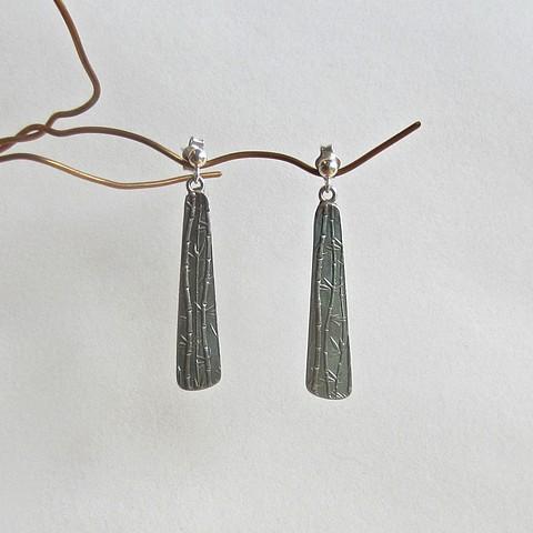 Bamboo post earrings