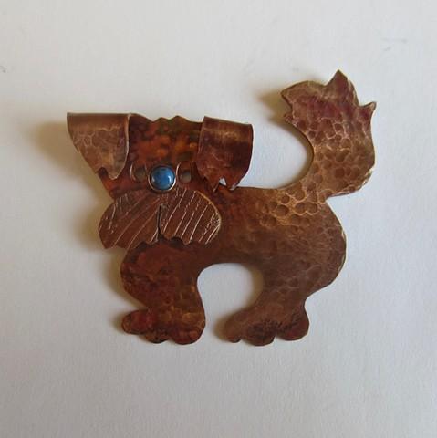 Blue Nose Dog pin