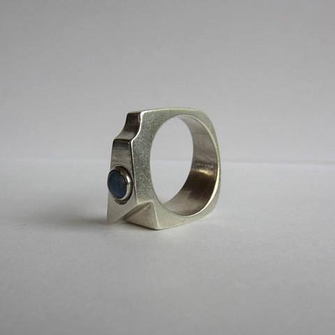 Denim Lapis ring #1