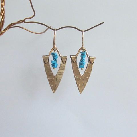Bronze & Turquoise earrings
