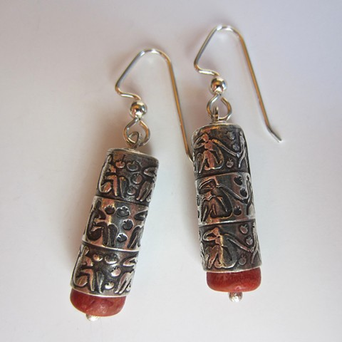Matisse Women and Monkeys cylinder earrings