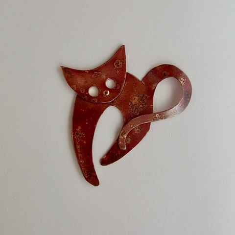 Big Eyes Cat pin