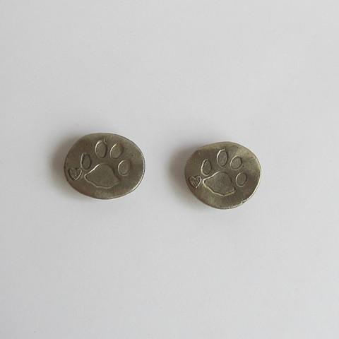 Silver Puppy Love magnet