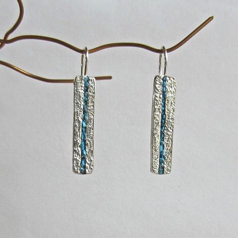 Blue Stripe earrings
