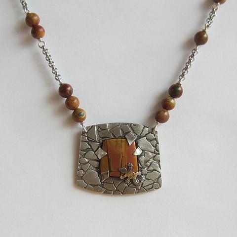 Desert with Lizard necklace