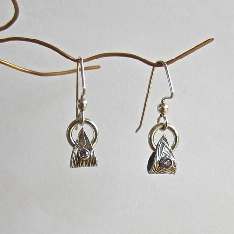 Petal with Stone earrings