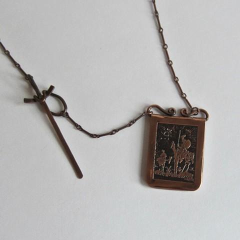 Don Quixote Locket necklace